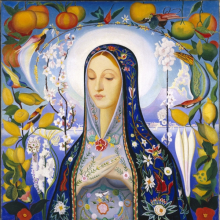 <p>Joseph Stella (American, born Italy, 1877–1946). <em>The Virgin</em>, 1926. Oil on canvas, 39<sup>11</sup>/<sub>16</sub> x 38<sup>3</sup>/<sub>4</sub> in. (100.8 x 98.4 cm). Brooklyn Museum; Gift of Adolph Lewisohn, 28.207. (Photo: Brooklyn Museum)</p>