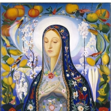 <p>Joseph Stella (American, born Italy, 1877&ndash;1946). <em>The Virgin</em>, 1926. Oil on canvas, 39<sup>11</sup>/<sub>16</sub> x 38<sup>3</sup>/<sub>4</sub> in. (100.8 x 98.4 cm). Brooklyn Museum; Gift of Adolph Lewisohn, 28.207.<br /> (Photo: Brooklyn Museum)</p>