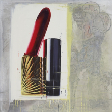<p>Marilyn Minter (American, born 1948). <em>Rouge Baiser</em>, 1994. Enamel on metal, 48 x 48 in. (121.9 x 121.9 cm). Courtesy of the artist and Salon 94, New York</p>