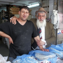 <p>Wendy Ewald (American, born 1951). <em>Untitled</em>, photograph by Oshik, Mahane Yehuda Market, Jerusalem 2012–13. Archival pigment ink print mounted on aluminum, 5<sup>3</sup>⁄<sub>8</sub> x 6<sup>7</sup>⁄<sub>8</sub> in. (13.7 x 17.5 cm). © Wendy Ewald, all rights reserved</p>