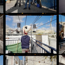 <p>Gilles Peress (French, born 1946.). <em>Contact Sheet, Palestinian Jerusalem</em>, 2013. Installation view detail, overall h. 129<sup>3</sup>⁄<sub>4</sub> in. (341 cm). © Gilles Peress</p>