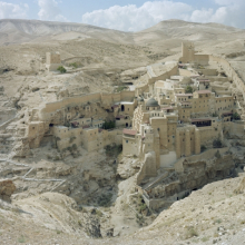 <p>Stephen Shore (American, born 1947).<em> St. Sabas Monastery, Judean Desert, Israel</em>, September 20, 2009. Chromogenic print, 36 x 45 in. (91.4 x 114.3 cm). Courtesy of the artist and 303 Gallery, New York. © Stephen Shore, all rights reserved</p>