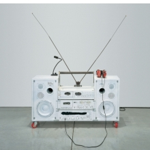 Tom Sachs (American, born 1966). Model One, 1999. Mixed media, 32 x 41 x 14 in. (81.3 x 104.1 x 35.6 cm). Collection of Philip and Shelley Fox Aarons, New York. Courtesy of the artist