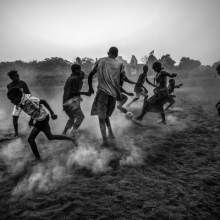 <p>Daniel Rodrigues (Portuguese, born France 1987). <em>Football in Guinea Bissau</em>, March 3, 2012, printed 2016. Inkjet print, 13<sup>5</sup>⁄<sub>16</sub> x 20 in. (33.9 x 50.8 cm). Courtesy of the artist</p>