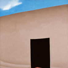 <p>Georgia O'Keeffe (American, 1887–1986). <em>Patio with Cloud</em>, 1956. Oil on canvas, 36 x 30 in. (91.4 x 76.2 cm). Milwaukee Art Museum; Gift of Mrs. Edward R. Wehr, M1957.10. © Georgia O'Keeffe Museum/Artists Rights Society (ARS), New York. (Photo: P. Richard Eells)</p>