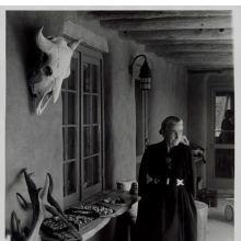 <p>Todd Webb (American, 1905&ndash;2000). <em>Georgia O&rsquo;Keeffe on Ghost Ranch Portal</em>, New Mexico, circa 1960s. Gelatin silver print, 10 x 8 in. (25.4 x 20.3 cm). Georgia O&rsquo;Keeffe Museum, Santa Fe, N.M.; Gift of The Georgia O&rsquo;Keeffe Foundation, 2006.06.1046. &copy; Estate of Todd Webb, Portland, ME</p>