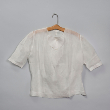 <p>Attributed to Georgia O'Keeffe. Blouse, circa early to mid-1930s. White linen. Georgia O'Keeffe Museum, Santa Fe, N.M.; Gift of Juan and Anna Marie Hamilton, 2000.03.0248. (Photo: © Gavin Ashworth)</p>