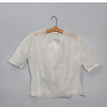 <p>Attributed to Georgia O&rsquo;Keeffe. Blouse, circa early to mid-1930s. White linen. Georgia O&rsquo;Keeffe Museum, Santa Fe, N.M.; Gift of Juan and Anna Marie Hamilton, 2000.03.0248. (Photo: &copy; Gavin Ashworth)</p>