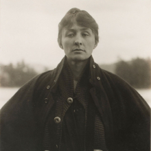 <p>Alfred Stieglitz (American, 1864–1946). <em>Georgia O'Keeffe: A Portrait</em>, 1918. Gelatin silver print, 4<sup>3</sup>/<sub>4</sub> x 3<sup>5</sup>/<sub>8</sub> in. (11.9 x 9.2 cm). Philadelphia Museum of Art; Purchased with the Lola Downin Peck Fund, 1978, 1978-91-1</p>