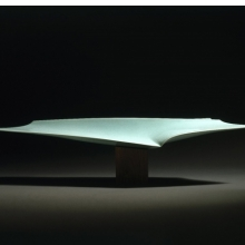 <p>Fukami Sueharu (Japanese, born 1947). <em>Infinity II (Shinso)</em>, 1994. Porcelain with blue-green (seihakuji) glaze, 11 x 47<sup>5</sup>/<sub>8</sub> x 9<sup>1</sup>/<sub>2</sub> in. (27.9 x 121 x 24.1 cm). Brooklyn Museum; Purchased with funds given by Alastair B. Martin, 1994.146a&ndash;b. &copy; Fukami Sueharu. (Photo: Brooklyn Museum)</p>