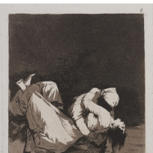 <p>Francisco de Goya y Lucientes (Spanish, 1746&mdash;1828). <em>They Carried Her Off! (Que se la llevaron!)</em>, plate 8 from <em>The Caprices (Los Caprichos)</em>, 1797&ndash;98. Etching and aquatint on laid paper, 8<sup>1</sup>/<sub>2</sub> x 6 in. (21.7 x 15.2 cm). Brooklyn Museum; A. Augustus Healy Fund, Frank L. Babbott Fund, and Carll H. de Silver Fund, 37.33.8. (Photo: Jonathan Dorado, Brooklyn Museum)</p>