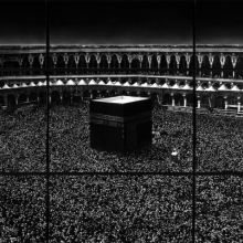 <p>Robert Longo (American, born 1953). <em>Untitled (Mecca)</em>, 2010. Charcoal on mounted paper, 166 x 252 in. (421.6 x 640.1 cm). © Robert Longo, Private Collection. (Photo: Courtesy of the artist and Galerie Thaddaeus Ropac; London, Paris, Salzburg)</p>