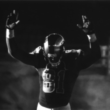 <p>Robert Longo (American, born 1953). <em>Untitled (St. Louis Rams/Hands Up)</em>, 2015. Charcoal on mounted paper, 65 x 120 in. (165.1 x 304.8 cm). © Robert Longo, Collection of the artist. (Photo: Courtesy of the artist and Metro Pictures, New York)</p>