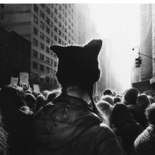 <p>Robert Longo (American, born 1953). <em>Untitled (Black Pussy Hat in Women&rsquo;s March)</em>, 2017. Charcoal on mounted paper, 60 x 106<sup>5</sup>/<sub>8</sub> in. (152.4 x 270.8 cm). &copy; Robert Longo, Courtesy of the artist, Metro Pictures, New York, and Galerie Thaddaeus Ropac; London, Paris, Salzburg</p>