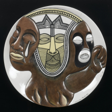<p>Judy Chicago (American, born 1939). <em>Sojourner Truth #2 Test Plate</em> from <em>The Dinner Party</em>, circa 1978. Porcelain and china paint, diameter: 14 in. (35.6 cm). Brooklyn Museum, gift of Judy Chicago, 82.165. &copy; 2017 Judy Chicago / Artists Rights Society (ARS), New York. &copy; 2017 Judy Chicago / Artists Rights Society (ARS), New York. (Photo: Sarah DeSantis, Brooklyn Museum)</p>