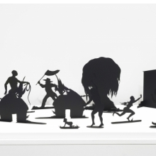 <p>Kara Walker (American, born 1969). <em>Burning African Village Play Set with Big House and Lynching</em> (detail), 2006. Edition: 16/20. Painted laser-cut steel, 24 x 38<sup>1/</sup><sub>4</sub> x 90 in. (61 x 97.2 x 228.6 cm) overall. Brooklyn Museum; Purchased with funds given by John and Barbara Vogelstein and Stephanie and Tim Ingrassia, 2008.53.1a-v. &copy; Kara Walker; courtesy of Sikkema Jenkins &amp; Co., New York. (Photo: Brooklyn Museum)</p>