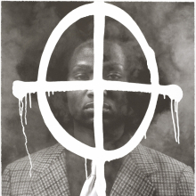 <p>Rashid Johnson (American, born 1977). <em>Thurgood in the Hour of Chaos</em>, 2009. Edition: 46/50. Photolithograph, 30 x 22 in. (76.2 x 55.9 cm). Brooklyn Museum; Gift of Exit Art, 2013.30.28. © Rashid Johnson (Photo: Brooklyn Museum)</p>