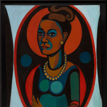 <p>Faith Ringgold (American, born 1930). <em>Early Works # Self Portrait</em>, 1965. Oil on canvas, 50 × 40 in. (127 × 101.6 cm). Gift of Elizabeth A. Sackler, 2013.96</p>