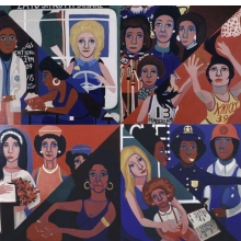 <p>Faith Ringgold (American, born 1930).<em> For the Women&rsquo;s House</em>, 1971. Oil on canvas, 96 x 96 in. (243.8 x 243.8 cm). Courtesy of Rose M. Singer Center, Rikers Island Correctional Center. &copy; 2017 Faith Ringgold / Artists Rights Society (ARS), New York</p>