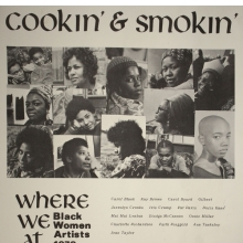 <p>Where We At Collective. <em>Cookin&#39; and Smokin&#39;</em>, 1972. Offset printed poster, 14 &times; 11 in. (35.6 &times; 27.9 cm). Collection of David Lusenhop. Photo courtesy of Dindga McCannon Archives, Philadelphia, PA. &copy; Dindga McCannon. (Photo: David Lusenhop)</p>