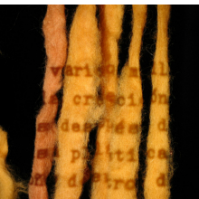 <p>Cecilia Vicu&ntilde;a (born 1948, Santiago, Chile). <em>Quipu Inscribed</em> (projection study for a presentation at the American Museum of Natural History, New York), 2008. Performance with unspun wool and projection, dimensions variable. &copy; Cecilia Vicu&ntilde;a. Courtesy of the artist and Lehmann Maupin, New York and Hong Kong. (Photo: Diana Fruscio)</p>