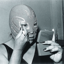 <p>Lourdes Grobet (born Mexico, 1940).<em> La Venus</em>, 1981–82, from the series <em>La doble lucha</em> (The double struggle), 1981–2005. Black-and-white photograph, 9<sup>1</sup>/<sub>2</sub> × 14 in. (24 × 35.5 cm). Collection of Lourdes Grobet. © Lourdes Grobet</p>