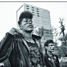 <p>Yolanda Andrade (born Mexico, 1950). <em>Marcha gay</em> (Gay pride march), 1984. Gelatin silver print. 11 &times; 14 in. (27.9 &times; 35.6 cm). Courtesy of the artist. &copy; Yolanda Andrade</p>