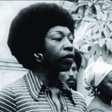 <p>Victoria Santa Cruz (Peru 1922–2014 Peru). <em>Me gritaron negra</em> (They shouted black at me), 1978. Documentation of performance, excerpted from the documentary Victoria—Black and Woman, 1978. Director: Torgeir Wethal; producer: Odin Teatret Film Video. Video, black and white, sound; 3:58 min. OTA-Odin Teatret Archives</p>
