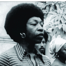 <p>Victoria Santa Cruz (Peru 1922&ndash;2014 Peru). <em>Me gritaron negra</em> (They shouted black at me), 1978. Documentation of performance, excerpted from the documentary Victoria&mdash;Black and Woman, 1978. Director: Torgeir Wethal; producer: Odin Teatret Film Video. Video, black and white, sound; 3:58 min. OTA-Odin Teatret Archives</p>
