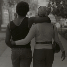 <p>Roy DeCarava (American, 1919–2009). <em>Couple Walking</em>, 1979. Gelatin silver print on paper, 11 x 14 in. (27.9 x 35.6 cm). Courtesy of Sherry Tuner DeCarava and the DeCarava Archives. © 2017 Estate of Roy DeCarava. All Rights Reserved</p>