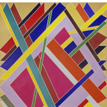 <p>William T. Williams (American, born 1942). <em>Trane</em>, 1969. Acrylic on canvas, 108 x 84 in. (274.3 x 213.4 cm). The Studio Museum in Harlem, New York. © William T. Williams. Courtesy of Michael Rosenfeld Gallery LLC, New York</p>