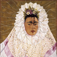 <p>Frida Kahlo (Mexican, 1907–1954).<em> Self-Portrait as a Tehuana</em>, 1943. Oil on hardboard, 30 x 24 in. (76 x 61 cm). The Jacques and Natasha Gelman Collection of 20th Century Mexican Art and the Vergel Foundation. © 2019 Banco de México Diego Rivera Frida Kahlo Museums Trust, Mexico, D.F. / Artists Rights Society (ARS), New York</p>