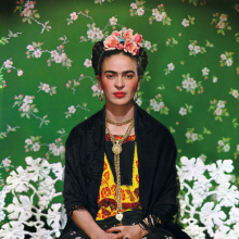 <p>Nickolas Muray (American, born Hungary, 1892&ndash;1965). <em>Frida on Bench</em>, 1939. Carbon print, 18 x 14 in. (45.5 x 36 cm). Courtesy of Nickolas Muray Photo Archives. &copy; Nickolas Muray Photo Archives</p>