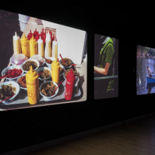 <p>Garry Winogrand (American, 1928–1984). Installation view, <em>Garry Winogrand: Color</em>. Projection of 35mm color slides. Brooklyn Museum, May 3–December 8, 2019. (Photo: Jonathan Dorado)</p>