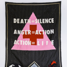 <p>Elektra KB (Colombian). <em>Protest Sign II</em>, 2017. Textile, felt, thread, 66 x 34 in. (167.6 x 86.4 cm). Courtesy of the artist. © Elektra KB</p>