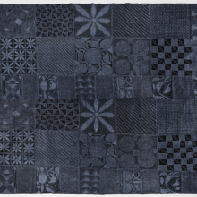 <p>Yorùbá artist. Woman's Wrapper (<em>àdìrẹ ẹlé̩kọ</em>), 20th century. Abẹokuta, Nigeria. Commercial cotton cloth, synthetic indigo dye, 68<sup>5</sup>/<sub>8</sub> × 78 × <sup>1</sup>/<sub>16</sub> in. (174.3 × 198.1 × 0.1 cm). Brooklyn Museum; Purchased with funds given by Frieda and Milton F. Rosenthal, 1990.132.8</p>