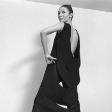 <p>Pierre Cardin dress with kinetic back, 1970. (Photo: Yoshi Takata. Courtesy of Archives Pierre Cardin. © Archives Pierre Cardin)</p>
