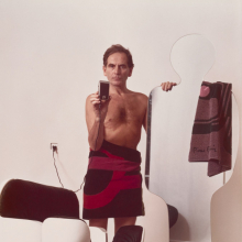 <p>Eddie Adams (American, 1933–2004). Pierre Cardin, 1974. Chromogenic photograph on paper, 11<sup>1</sup>/<sub>4</sub> x 15 in. (28.6 x 38.1 cm). National Portrait Gallery, Smithsonian Institute; gift of Time magazine, Briscoe Center for American History, NPG.78.TC276. © Estate of Eddie Adams. (Photo: Courtesy of National Portrait Gallery)</p>