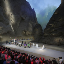 <p>Presentation of Pierre Cardin's Spring 2017 collection at the Yellow River Stone Forest National Geological Park in Baiyin, China, 2016. (Photo: Courtesy of Archives Pierre Cardin. © Archives Pierre Cardin)</p>
