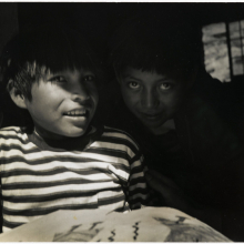 <p>Consuelo Kanaga (American, 1894–1978). <em>[Untitled] (Navajo Boys)</em>, 1950s. Gelatin silver photograph, 7<sup>3</sup>/<sub>4</sub> × 8<sup>3</sup>/<sub>4</sub> in. (19.7 × 22.2 cm). Brooklyn Museum; Gift of Wallace B. Putnam from the Estate of Consuelo Kanaga, 82.65.298. (Photo: Brooklyn Museum)</p>