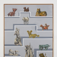 <p>Gala Porras-Kim (born Bogota, Columbia, 1984). <em>13 International Dogs</em>, 2019. Graphite, color pencil, ink on paper mounted on canvas, 60 × 48 in. (152.4 × 121.9 cm). Brooklyn Museum; Purchased with funds given by the LIFEWTR Fund at Frieze New York 2019, 2019.22. © Gala Porras-Kim. (Photo: Ruben Diaz, Courtesy of Commonwealth and Council)</p>