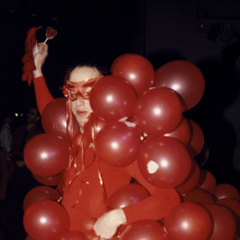 <p>Dustin Pittman. <em>Red Balloons</em>, 1979. Photograph, 10 × 8 in. (25.4 × 20.3 cm). Courtesy of the artist. © Dustin Pittman</p>
