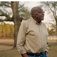 <p>James Johnson near his home in Abbeville, Alabama. 2016. (Photo: Andre Wagner for the Equal Justice Initiative)</p>