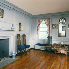 Living Room, The Trippe House. Secretary, Maryland, 1665 and 1720. Brooklyn Museum, Museum Surplus Fund, 17.130