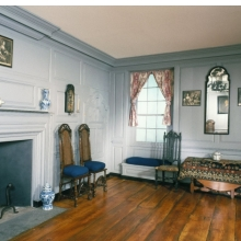 <p><em>Living Room, The Trippe House</em>. Secretary, Maryland, 1665 and 1720. Brooklyn Museum, Museum Surplus Fund, 17.130</p>