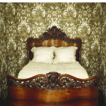 <p><em>Bed</em>. John Henry Belter (American, b. Germany, 1804-1863). New York, circa 1856. Rosewood, 65<sup>1</sup>&frasl;<sub>2</sub> x 58<sup>1</sup>&frasl;<sub>2</sub> x 83 in. (166.4 &times; 148.6 &times; 210.8 cm). Brooklyn Museum, Gift of Mrs. Ernest Vietor, 39.30</p>