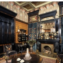 <p><em>Moorish Smoking Room, The Worsham-Rockefeller House</em>. New York, built circa 1864&ndash;65, remodeled circa 1881. Brooklyn Museum, Gift of John D. Rockefeller, Jr., and John D. Rockefeller III, 46.43</p>