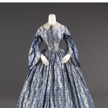 <p><em>Wedding Dress</em>, circa 1860. United States. Silk, cotton.<br /> Brooklyn Museum Costume Collection at The Metropolitan Museum of Art, Gift of the Brooklyn Museum, 2009; Gift of the Jason and Peggy Westerfield Collection, 1969. 2009.300.923</p>