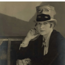 <p>Berenice Abbott (American, 1898–1991). <i>Janet Flanner</i>, 1927. Gelatin silver print, 9<sup>1</sup>⁄<sub>2</sub> x 7<sup>3</sup>⁄<sub>8</sub> in. (24.1 x 18.7 cm). Prints and Photographs Division, Library of Congress, Washington, D.C. © Berenice Abbott/Commerce Graphics, New York</p>