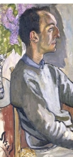 <p>Alice Neel (American, 1900–1984). <i>Frank O'Hara</i>, 1960. Oil on canvas, 33<sup>3</sup>⁄<sub>4</sub> x 16 x 1 in. (85.7 x 40.6 x 2.5 cm). National Portrait Gallery, Smithsonian Institution, NPG.96.128; gift of Hartley S. Neel. © Estate of Alice Neel</p>